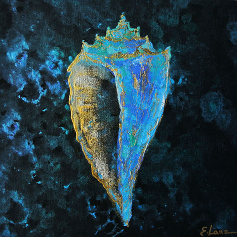 Shell - Acrylic On Wood