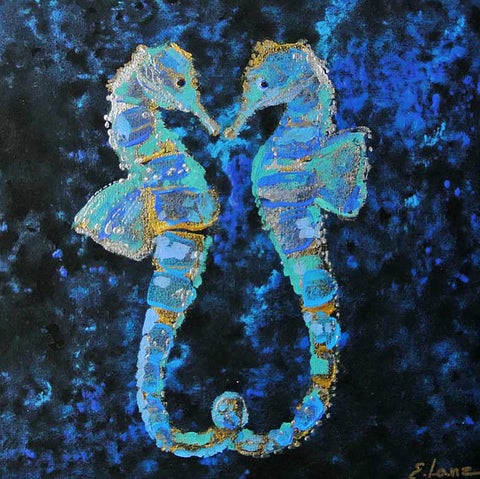 """Sea horses in love""  - Ocean Decoration"