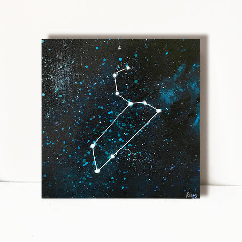 Leo Constellation - Acrylic On Wood