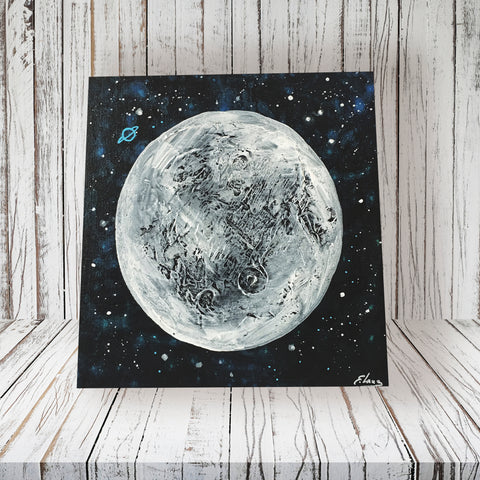 MOON - Acrylic On Wood
