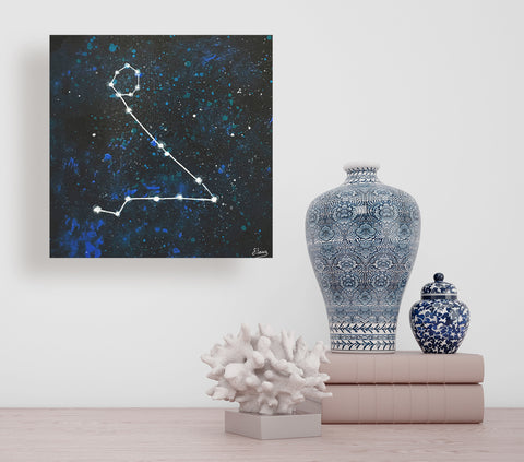 Pisces Constellation - Acrylic On Wood