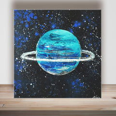 URANUS - Acrylic On Wood
