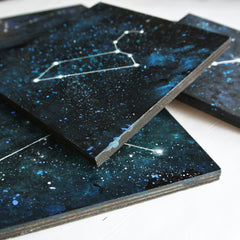 Aries Constellation - Acrylic On Wood
