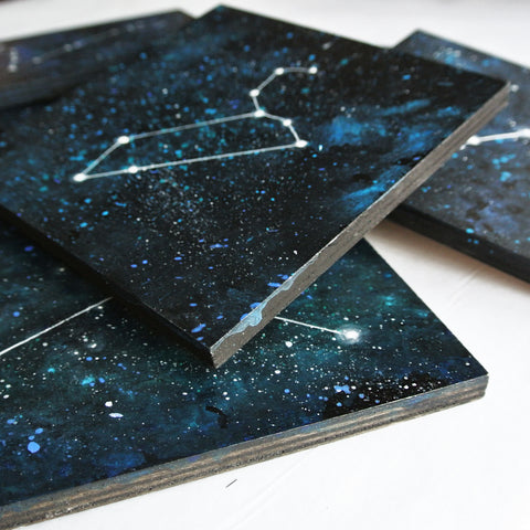 Gemini Constellation - Acrylic On Wood