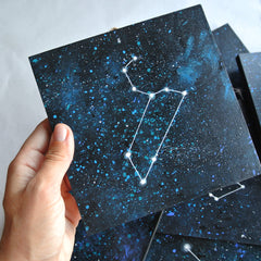 Capricorn Constellation - Acrylic On Wood