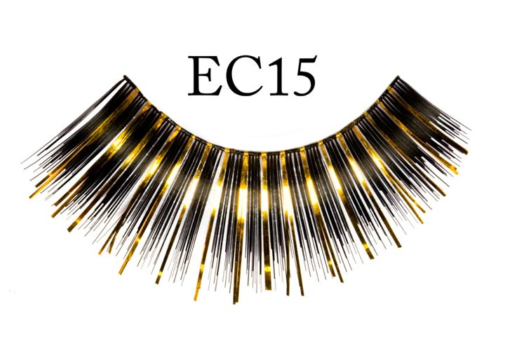EC15 Gold and Black Metallic Eyelashes
