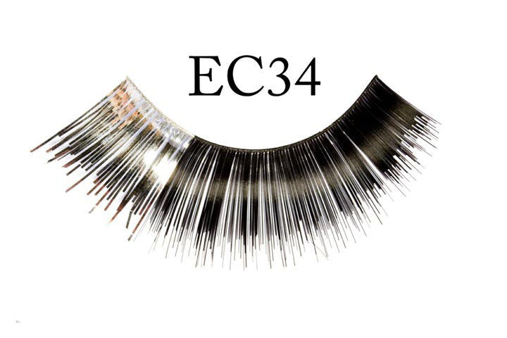 EC34 Silver and Black Eyelashes