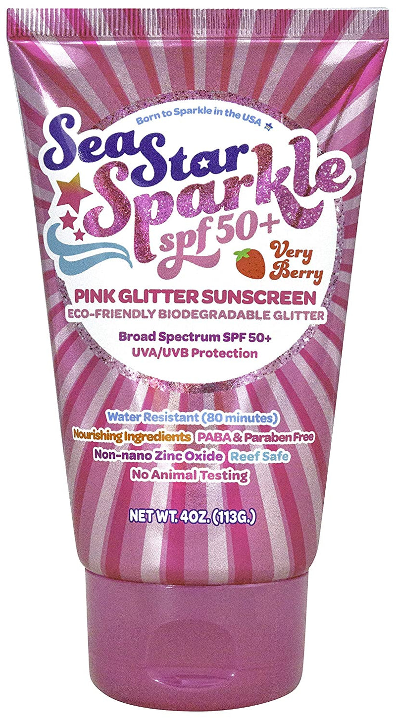 Pink Glitter Sunscreen - Very Berry