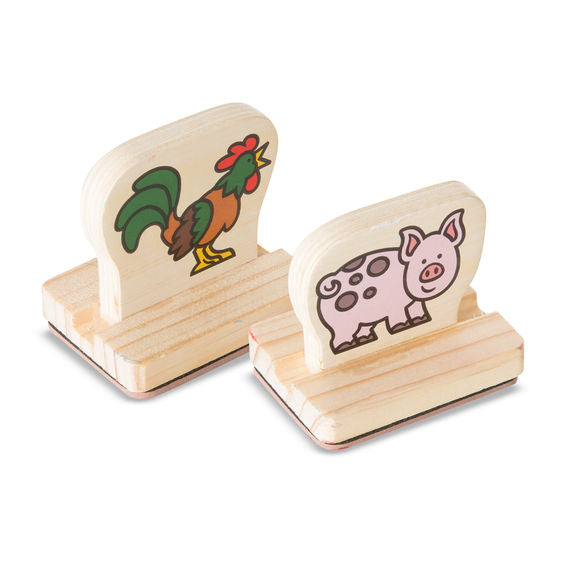 Animals My First Wooden Stamp Set