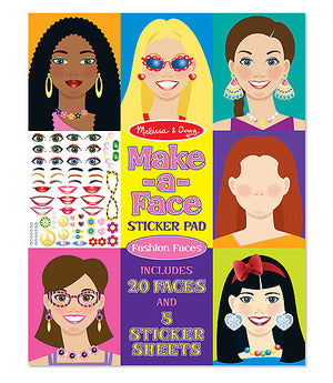 Make-a-Face Sticker Pad- Fashion Faces
