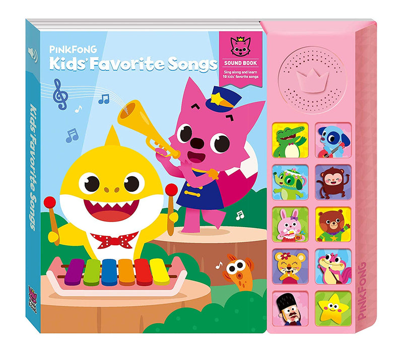 Pinkfong Baby Shark Kids Favorite Songs Book