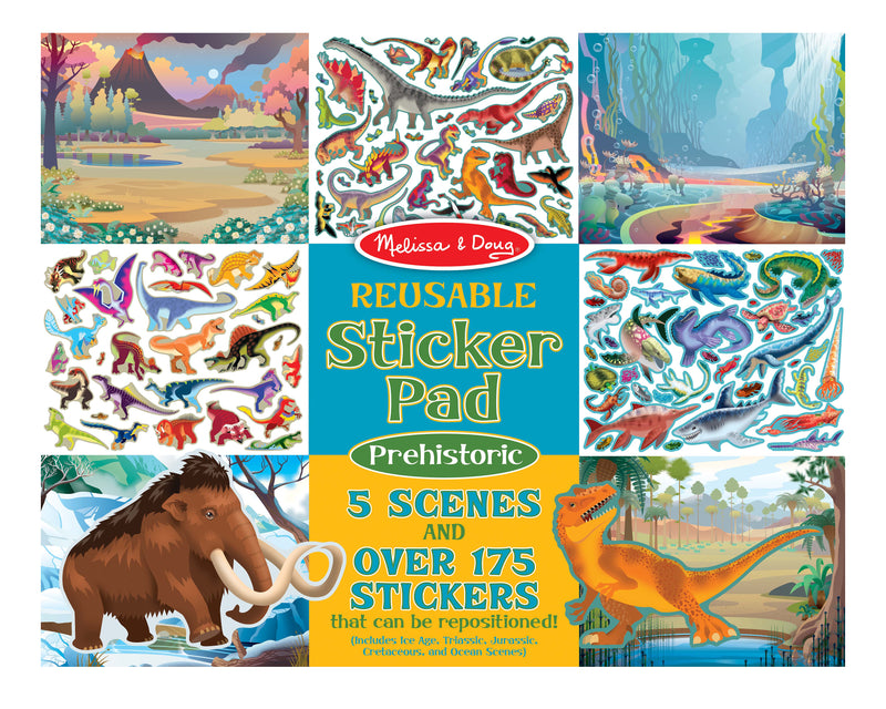 Prehistoric  Reusable Sticker Book