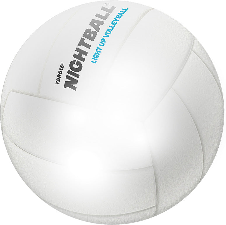 Tangle NightBall Volleyball - Pearl White