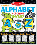 Animal Alphabet Coloring Pads -disc.