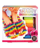 Make Your Own Shaggy: Latch Hook Slipper Kit