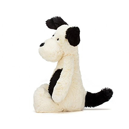 Bashful Black and Cream Puppy 7""