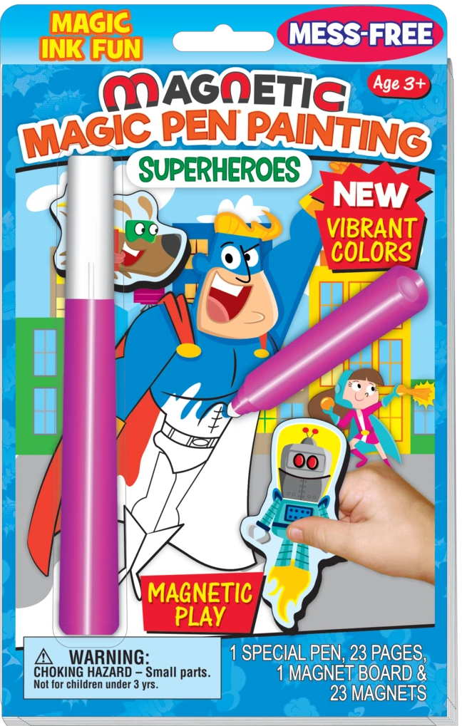 SuperHeros Magnetic magic pen painting book
