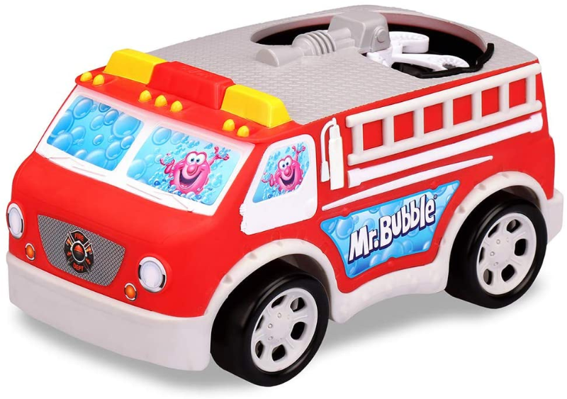 Mr. Bubble Fire Truck with solution
