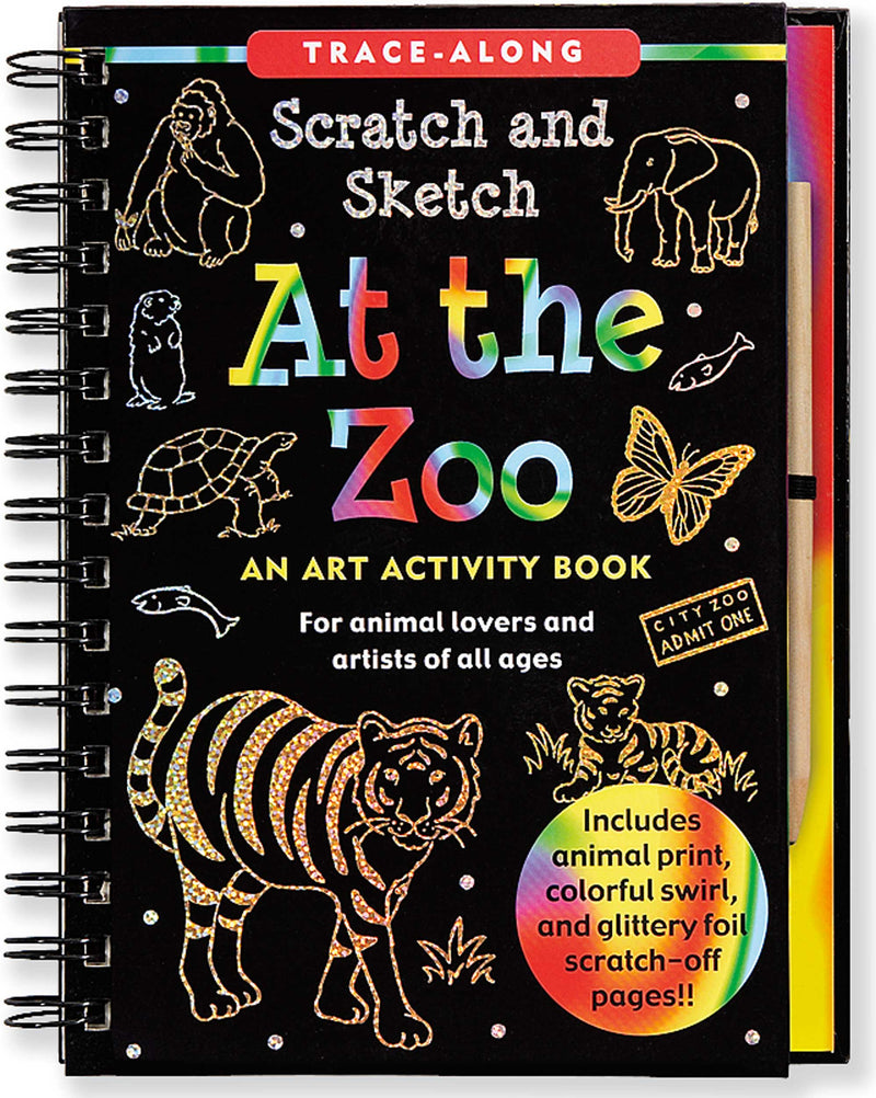 Scratch & Sketch At the Zoo (Trace-Along)