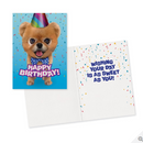 Teddy Bear Pomeranian Foil Card