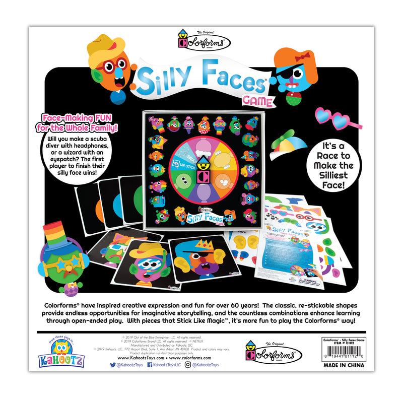 Colorforms Classic Silly Faces Board Game