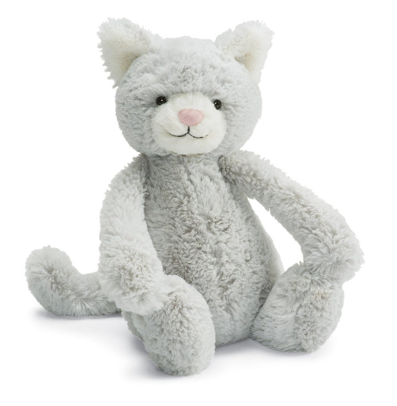 Bashful Grey Kitty 12""