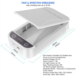 WHOLESALE - 10 PCS - Multi-functional 99% Cell Phone UV Sterilizer