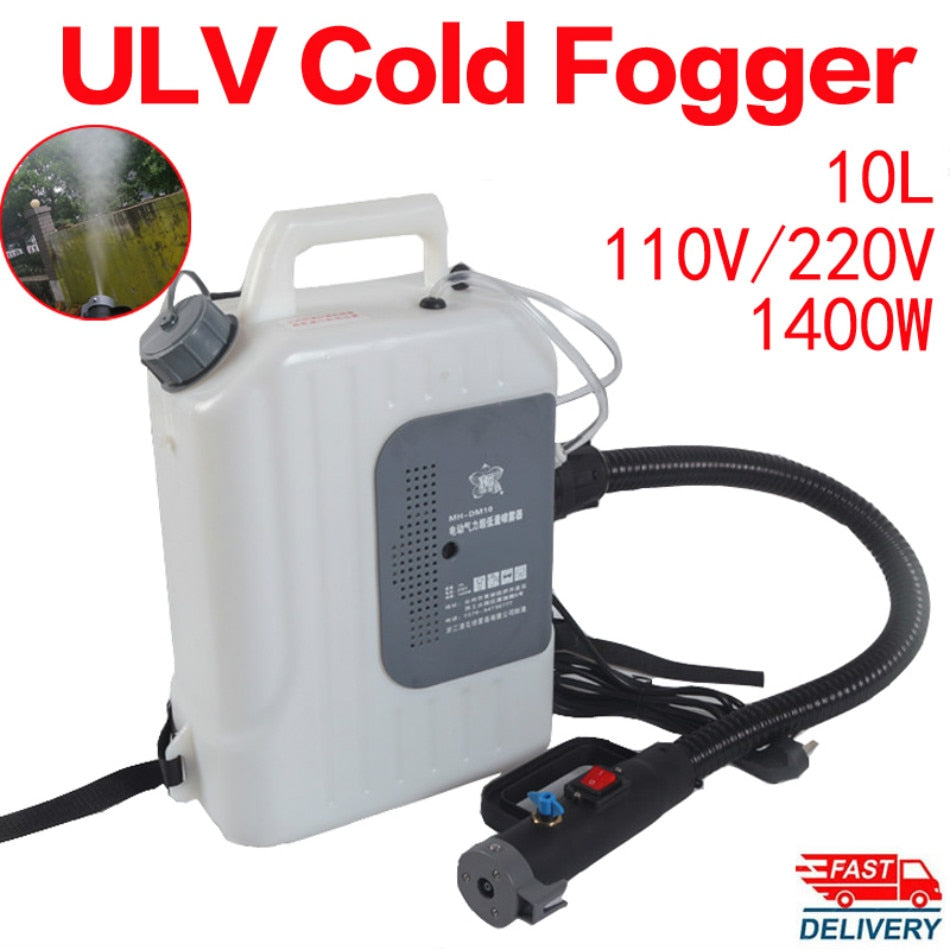 110V / 220V Electric ULV  Fogger Backpack  - Cold Fogging Machine 10L