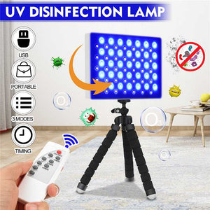60W Portable LED UV Disinfection Lamp with 2.4G Remote Controller Timing