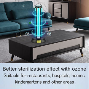 Double Tube UV Disinfection Lamp Sterization - Remote Control Timer Air Ozone