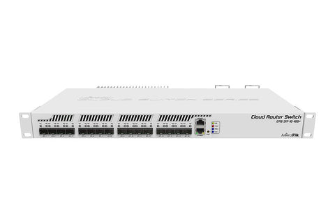 Smart Switch, 1 x Gigabit LAN, 16 x SFP+ cages, CRS317-1G-16S+RM, Dual Power Supplies