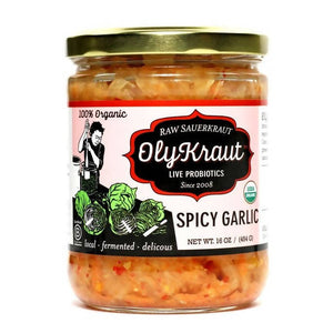 Organic Spicy Garlic Sauerkraut