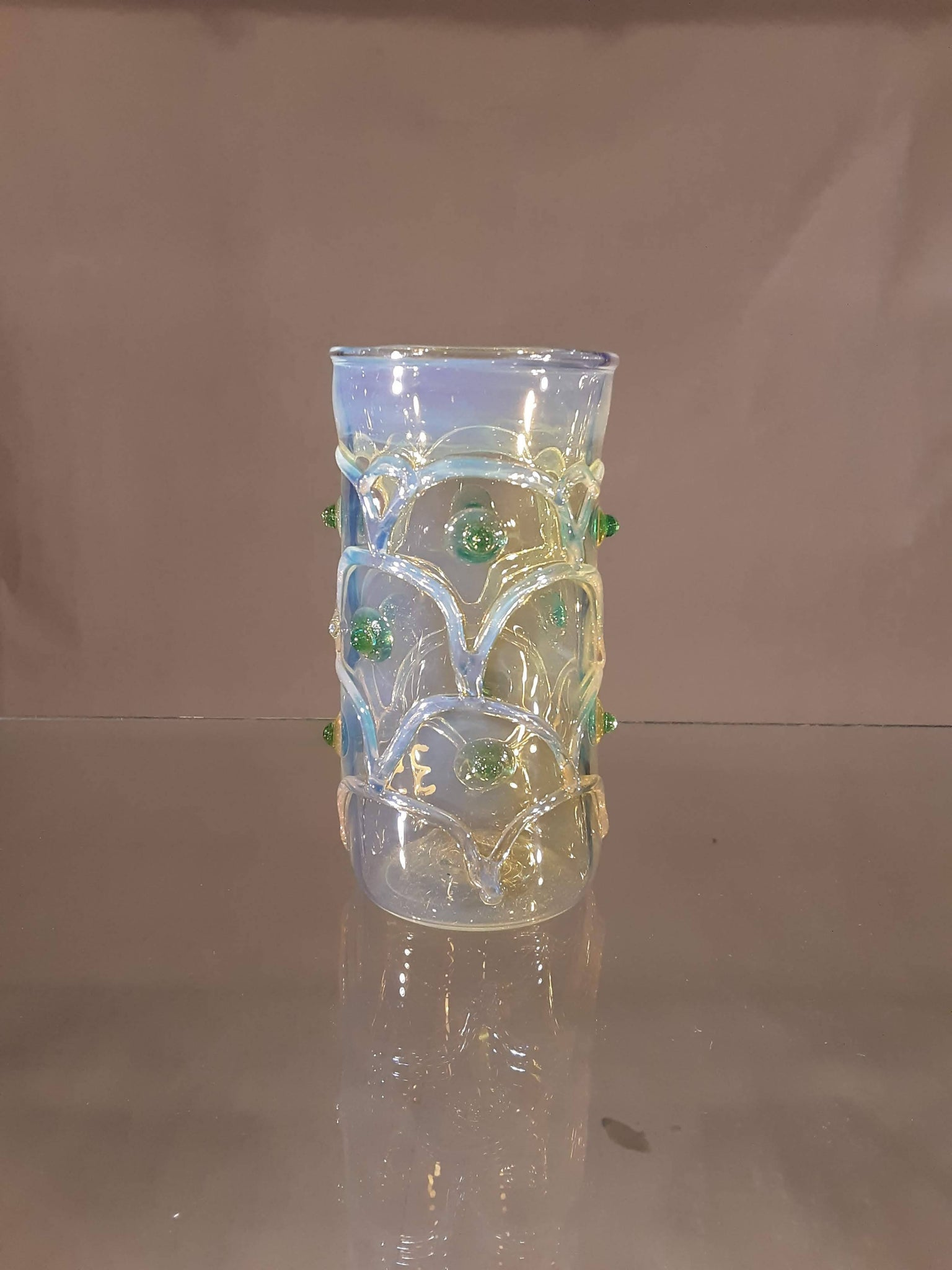 FISH SCALE TUMBLER green dot