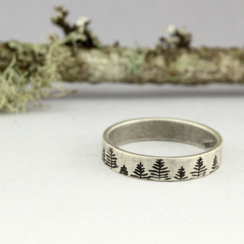 In The Pines Sterling Silver ring