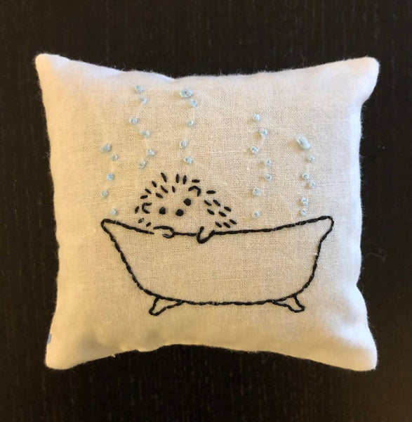 More hand-embroidered, lavender filled sachets
