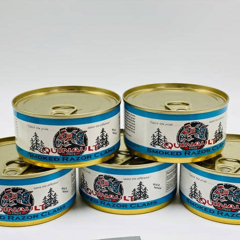 Canned Quinault Smoked Razor Clams