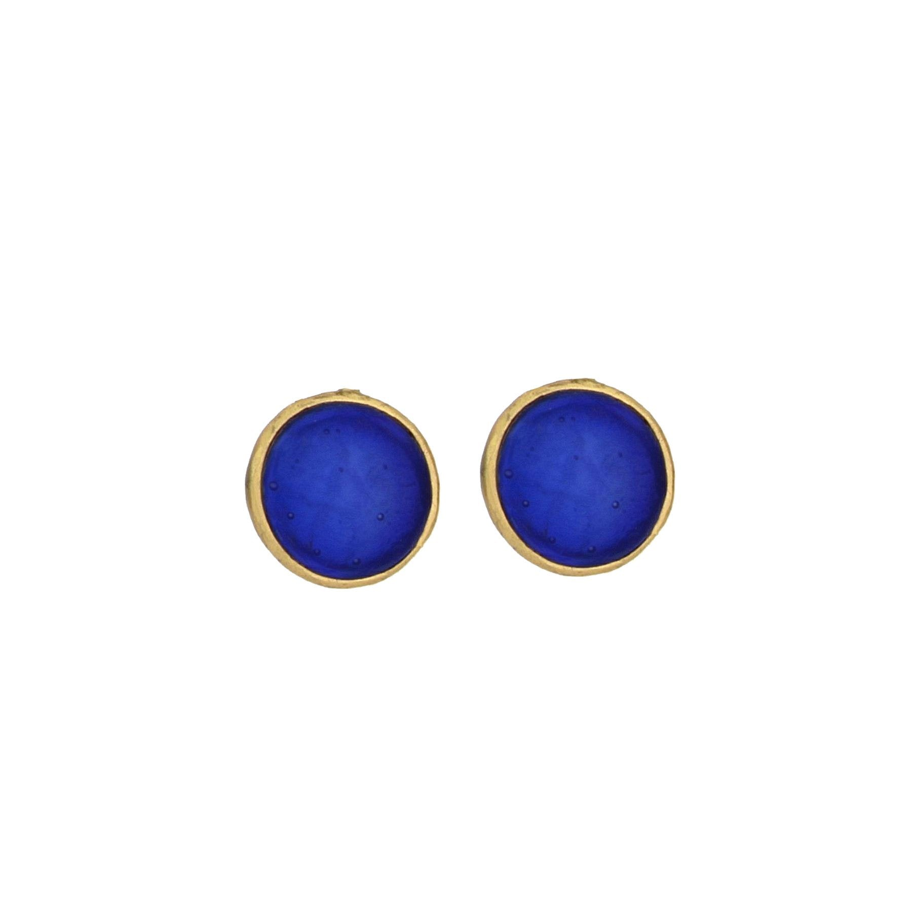 Bubble Post Earrings - Cobalt