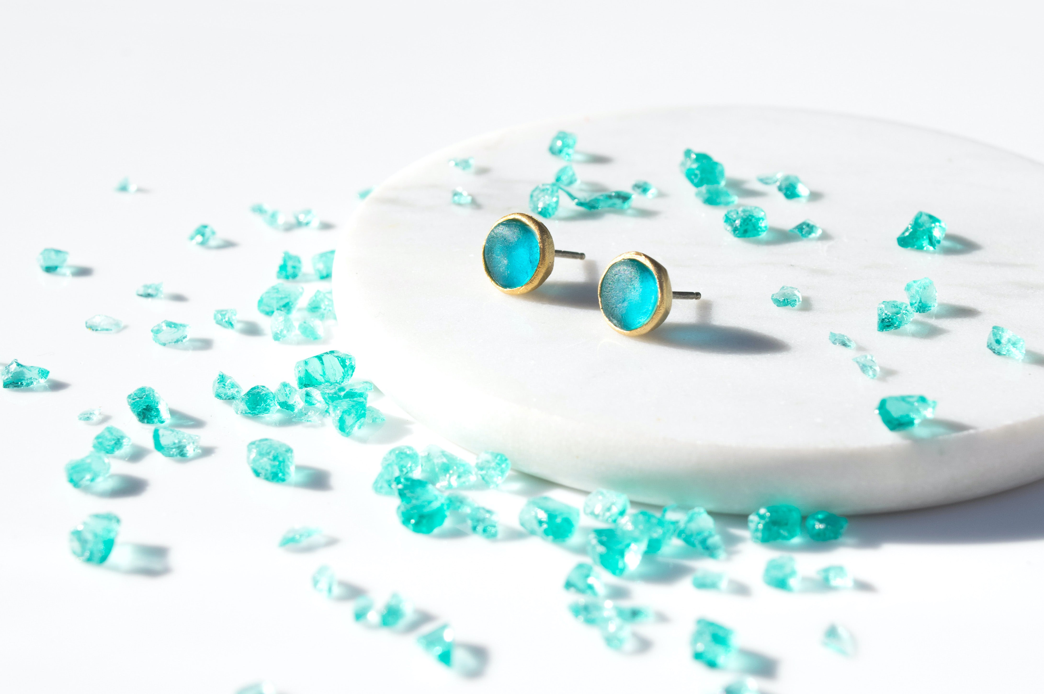 Bubble Post Earrings -Turquoise