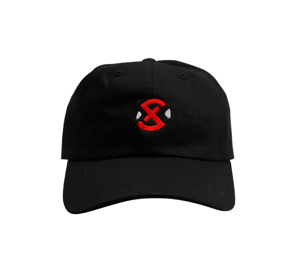 The XSET Logo Snap Back Hat in Black Matte - Front View