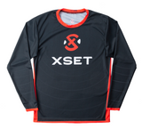 The Official XSET Jersey - First Edition in Black - Front View