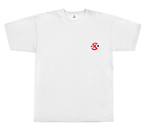 The XSET Core Logo Tee in White - Front View