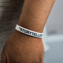 Load image into Gallery viewer, Story Teller (White) Wristband