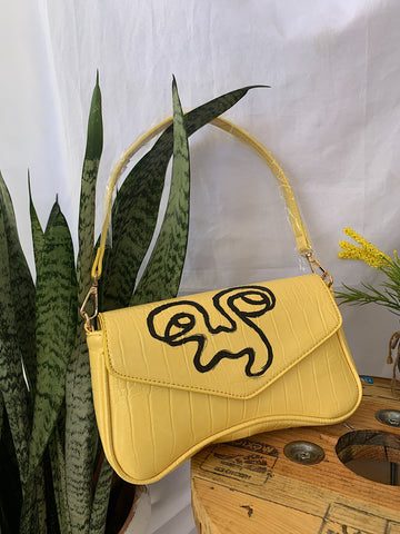 Yellow Baguette Bag