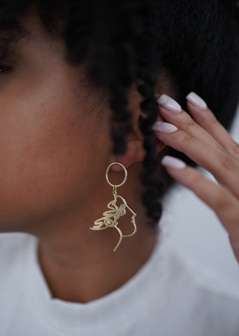 Circle Face Earring