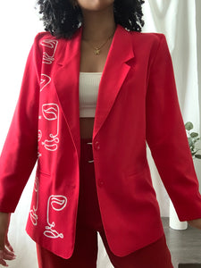 Bright Red Blazer