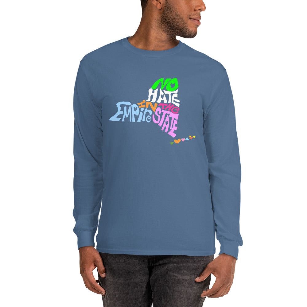 No Hate In The Empire State Men's Long Sleeve Shirt