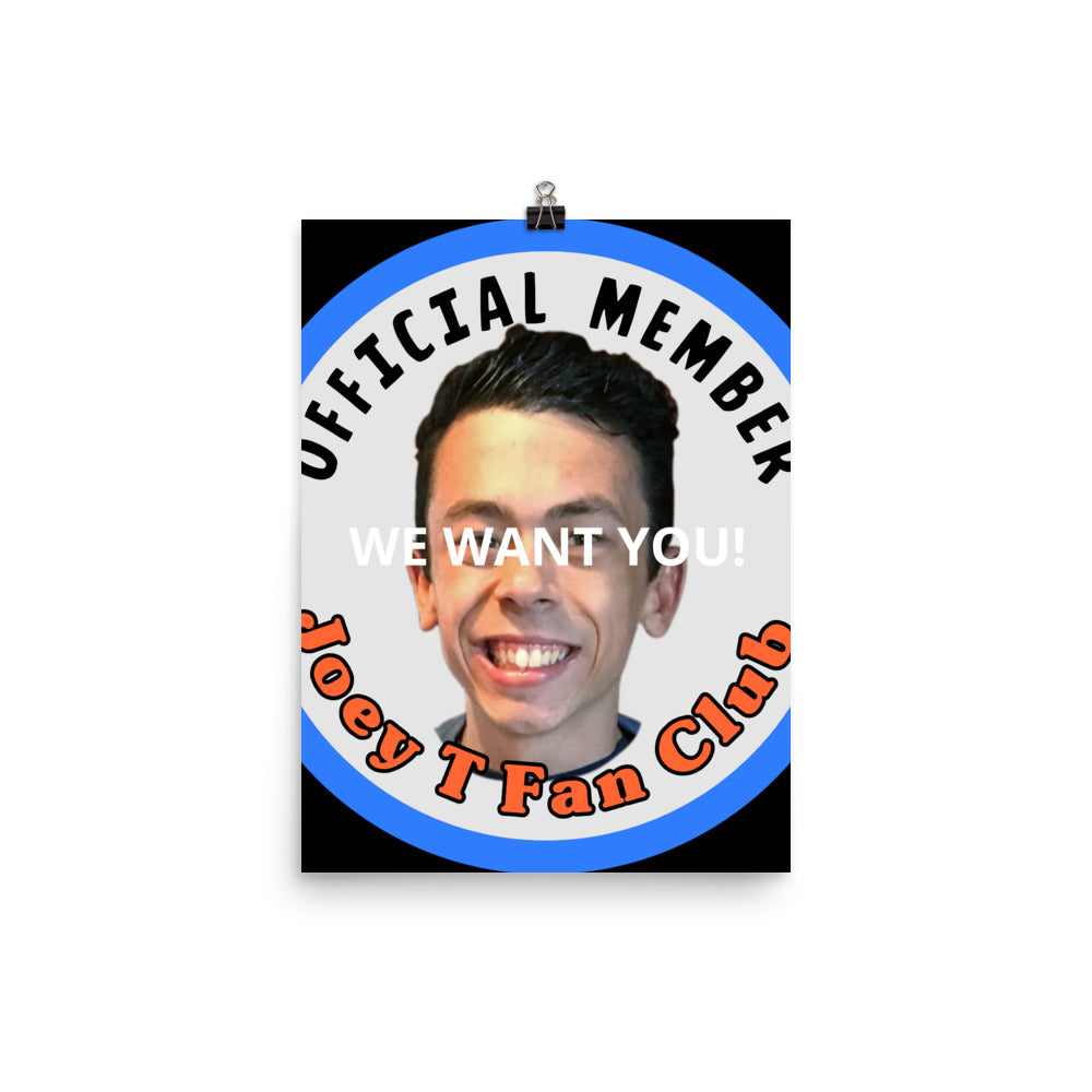 Joey T Fan Club Photo paper poster