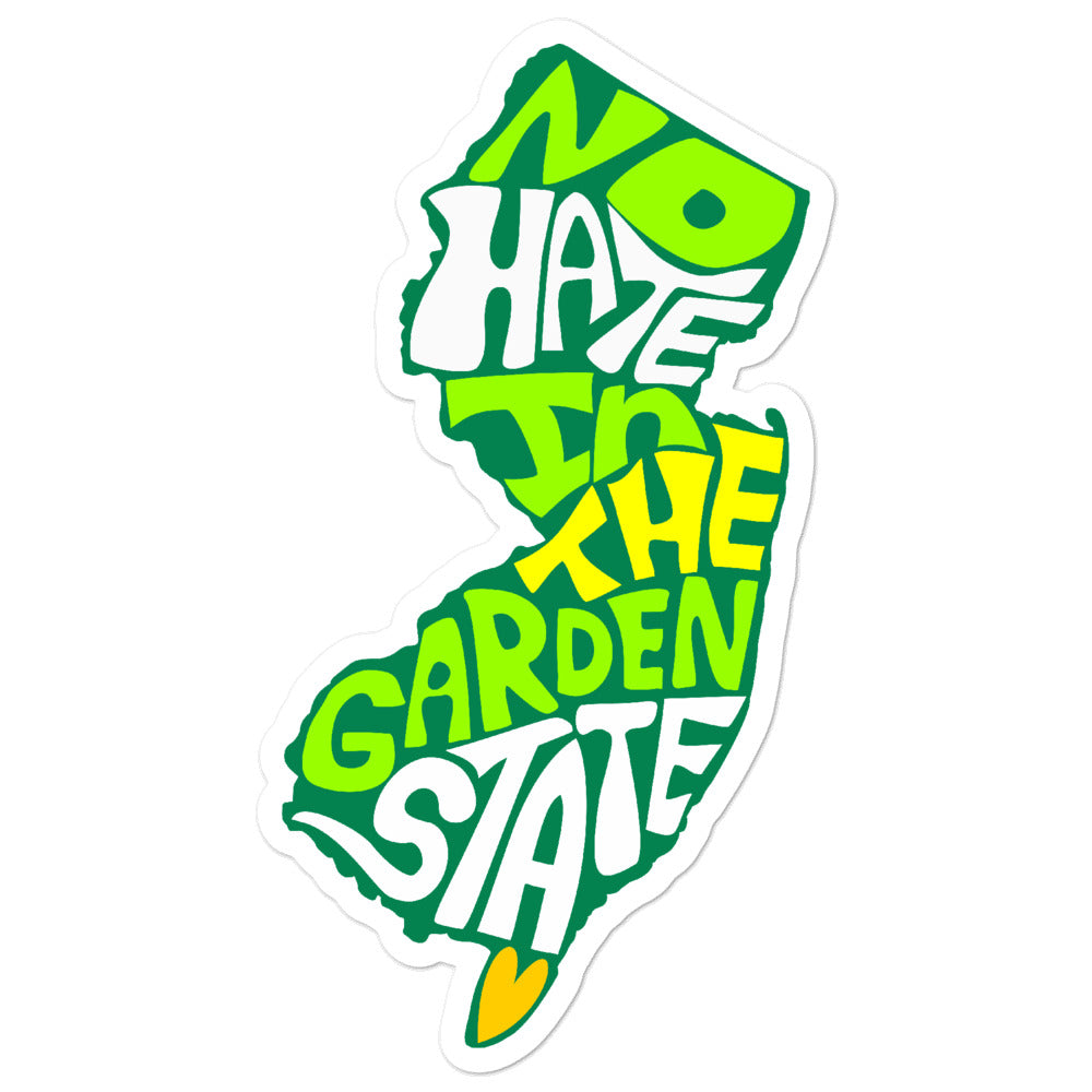 No Hate In The Garden State Bubble-free stickers