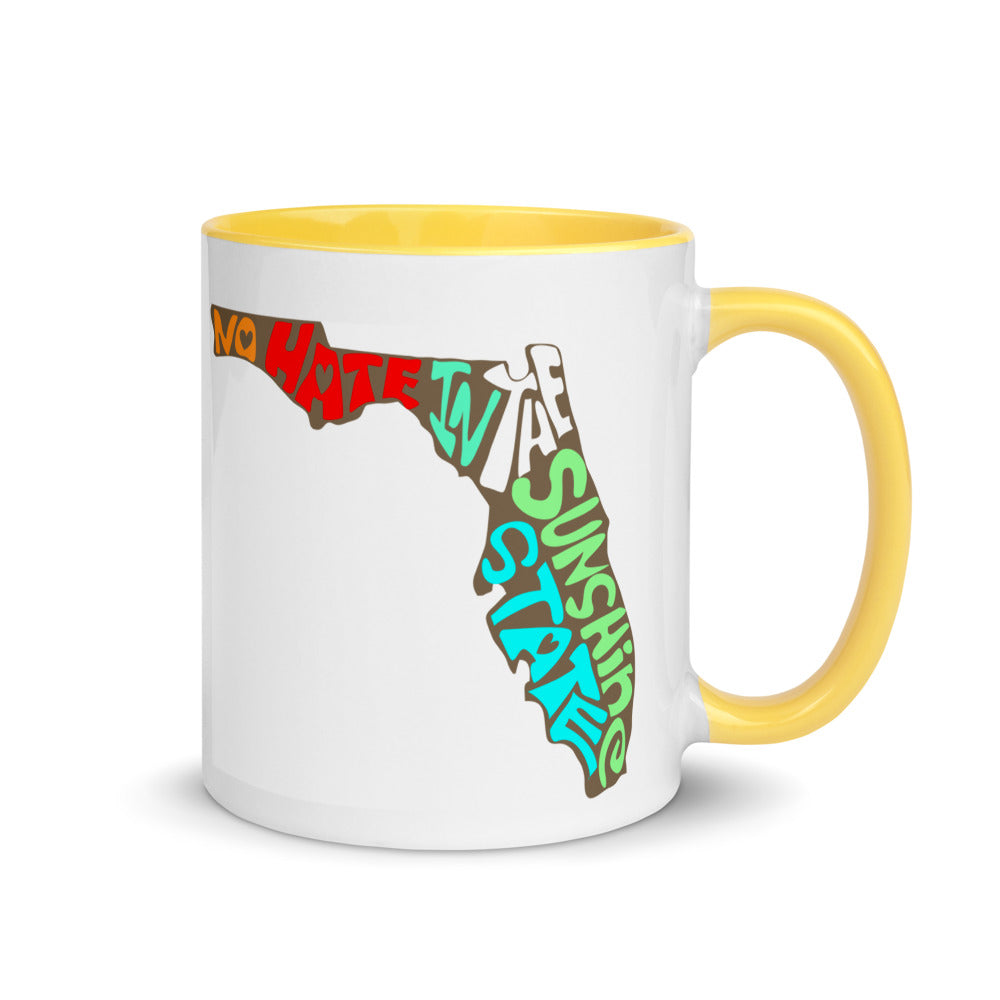No Hate In The Sunshine State Mug with Color Inside