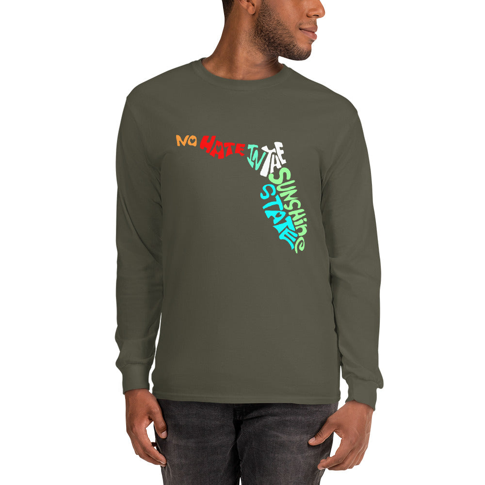 No Hate In The Sunshine State Men's Long Sleeve Shirt